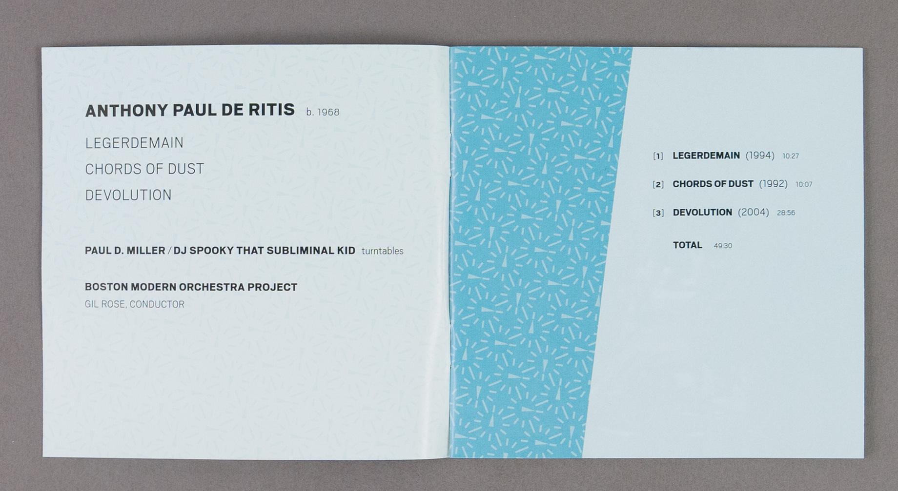 John Kramer Design | BMOP/Sound cd 1022: Anthony Paul De