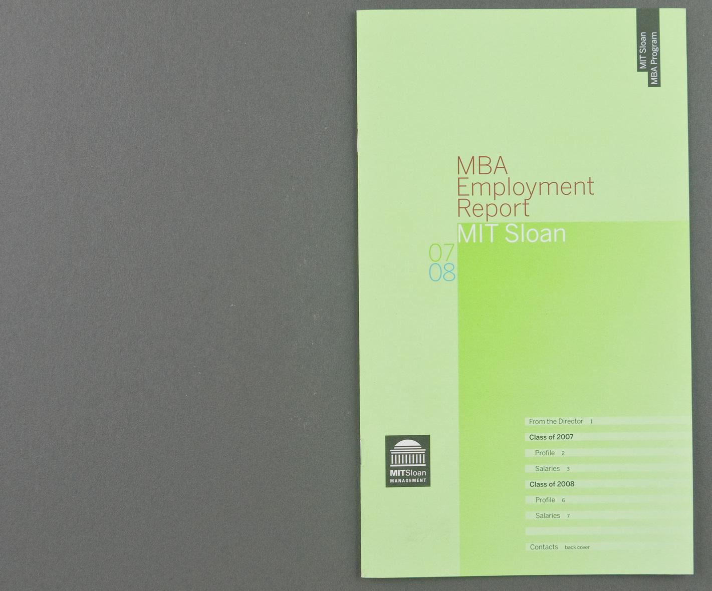 John Kramer Design | MIT Sloan CDO Employment Reports